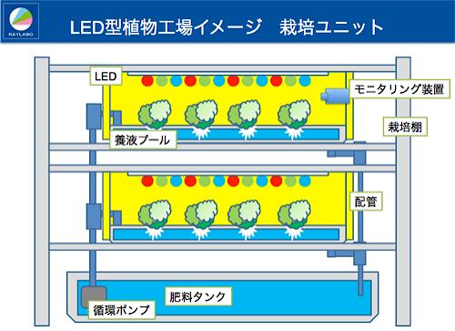 LED型植物工場のイメージ