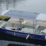 船、海辺、ヨット、プレジャーボート、~ソーラー発電~車~屋根~壁面
