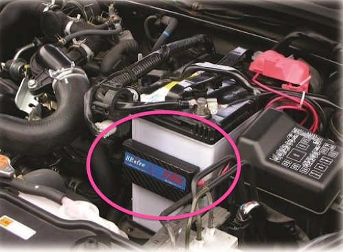 自動車バッテリ延命装置「Refre」12V,24V,48V